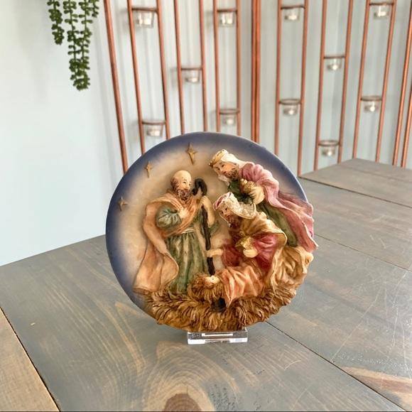 Vintage Prestige Christmas Nativity Plate